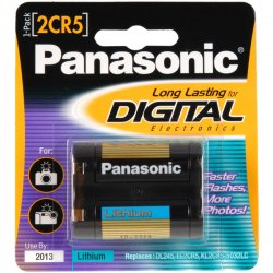 Panasonic - 2CR-5MPA/1B - Panasonic 2CR5 Photo Lithium Battery Pack - 6V DC