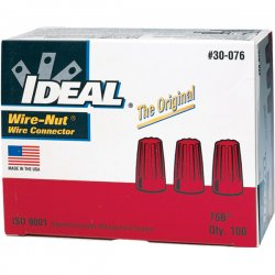 Stirling / IDEAL Industries - 30-076 - Twist On Wire Connector, Red, 76B Series, Max. Wire Combination: (2) 10 AWG with (2) 12 AWG