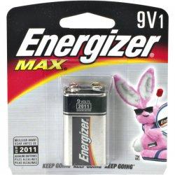 Energizer - 522BP - Energizer MAX Alkaline 9-Volt Battery - 595 mAh - 9V - Alkaline - 9 V DC - 1 / Pack