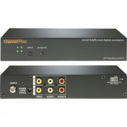 Channel Plus - 5425 - Dual modulator (digital) with 2 inputs- CATV 65-125 and UHF 14-64