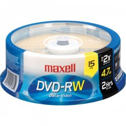 Maxell - 634046 - Maxell 4x DVD+RW Media - 120mm