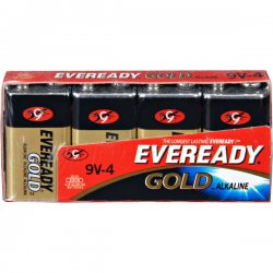 Eveready - A522-4 - Gold Alkaline Batteries, 9V, 4 /Pk
