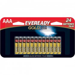 Eveready - A92BP24HT - Gold Alkaline Batteries, AAA, 24/Pk