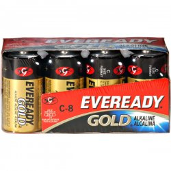 Eveready - A93-8 - Gold Alkaline Batteries, C, 8 /Pk