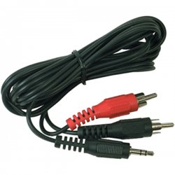 RCA - AH205R - RCA(R) AH205R 3.5mm to 2 RCA Plugs Y-Adapter, 3ft