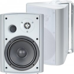 TIC - ASP120-W - TIC Architectural ASP120 75 W RMS - 120 W PMPO Speaker - 2-way - 2 Pack - White - 35 Hz to 19 kHz - 6 Ohm - 88 dB Sensitivity - Bookshelf