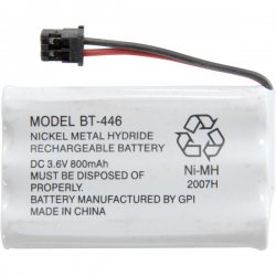 Uniden - BT-446 - Uniden BT-446 Nickel Metal Hydride Cordless Phone Battery - Nickel-Metal Hydride (NiMH) - 3.6V DC