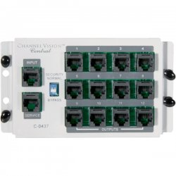 Channel Vision - C-0437 - Channel Vision C-0437 Phone Patch Panel - 4 x RJ-45, 12 x RJ-45 - 16 Port(s) - 16 x RJ-45 - 16 x RJ-11