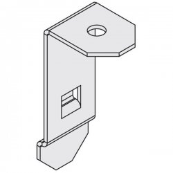 """Channel Vision - C-1330 - Enclosure Mounting Clips for 5/8"""" drywall - 4pcs/bag"""
