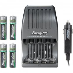 Energizer - CH15MNCP4 - Energizer NiMH Rechargeable Battery Charger - 110 V AC, 12 V DC Input