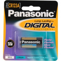 Panasonic - CR-123APA/1B - Panasonic CR-123APA/1B Camera Battery - Lithium Manganese Dioxide - 1550mAh - 3V DC