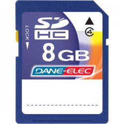 DANE-ELEC - DA-SD-8192-R - Dane-Elec 8GB Secure Digital High Capacity (SDHC) Card - 8 GB