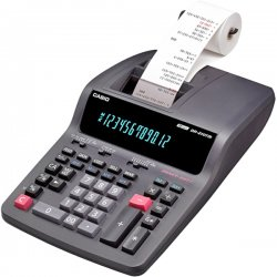 Casio - DR210TM - Casio DR-210TM Heavy-duty 2-color Print Calculator - Dual Color Print - AC Supply Powered - 1 Each