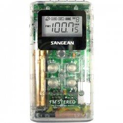 Sangean - dt-120-clear - Sangean DT-120 AM/FM Stereo Pocket Radio - 5 x AM, 10 x FM Presets
