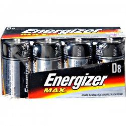 Energizer - E95FP-8 - Energizer Max Alkaline D Batteries - D - Alkaline - 1.5 V DC - 8 / Pack
