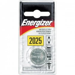 Energizer - ECR-2025BP - Energizer 2025 Watch/Calc. 3 Volt Battery - Lithium (Li) - 3 V DC