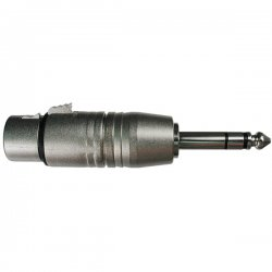 Hosa - GXP-143 - Hosa XLR to TRS Adapter - 1 x XLR Female Audio - 1 x Male