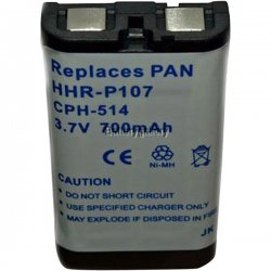 Panasonic - HHR-P107A - Panasonic Phone Battery - 3.60 mAh - AAA - Nickel Metal Hydride (NiMH) - 3.6 V DC