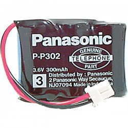 Panasonic - HHR-P302A/1B - Panasonic Nickel Cadmium Cordless Phone Battery - Nickel-Cadmium (NiCd) - 3.6V DC