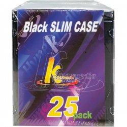KHypermedia - K-CDPSSBK/25P - Khypermedia Black Slim Case - Book Fold - Black