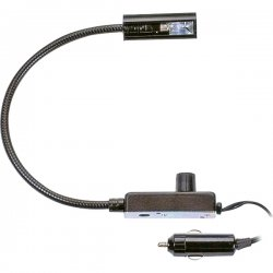 "Littlite - L-6/6 - High-Intensity 6"" Gooseneck Automotive Lamp (End Chassis Light, Detachable Cigarette Plug Adapter)"