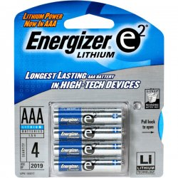 Energizer - L92BP4 - Energizer Ultimate Lithium AAA Batteries - AAA - Lithium (Li) - 1.5 V DC - 4 / Pack