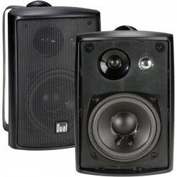 "Dual - LU43PB - DUAL LU43PB 4"" 3-Way Indoor/Outdoor Speakers (Black)"