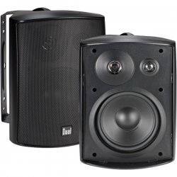 "Dual - LU53PB - DUAL LU53PB 5.25"" 3-Way Indoor/Outdoor Speakers (Black)"