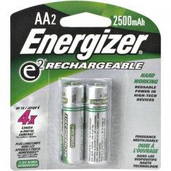 Energizer - NH15BP-2 - Energizer NH15BP-2 AA Nickel-metal Hydride Rechargeable Battery - AA - Nickel Metal Hydride (NiMH) - 2 / Pack