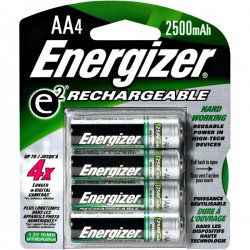 Energizer - NH15BP-4 - Energizer Recharge NiMH AA Batteries - 2300 mAh - AA - Nickel Metal Hydride (NiMH) - 1.2 V DC - 4 / Pack