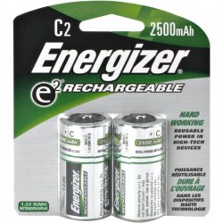Energizer - NH35BP-2 - Energizer General Purpose Battery - 2500 mAh - C - Nickel Metal Hydride (NiMH) - 1.2 V DC - 2 / Pack