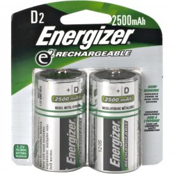 Energizer - NH50BP-2 - Energizer General Purpose Battery - 2200 mAh - D - Nickel Metal Hydride (NiMH) - 2 / Pack