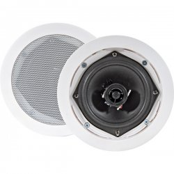Pyle / Pyle-Pro - PDIC51RD - Pyle PDIC51RD - 150 W PMPO Indoor Speaker - 2-way - 2 Pack - White - 8 Ohm - In-wall