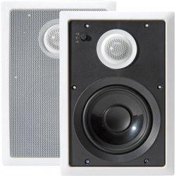 Pyle / Pyle-Pro - PDIW62 - Pyle PylePro PDIW62 - 250 W PMPO Speaker - 2-way - 2 Pack - White - 8 Ohm
