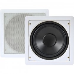 Pyle / Pyle-Pro - PDIWS8 - Pyle PDIWS8 150 W RMS - 300 W PMPO Woofer - 1 Pack - White - 8 Ohm - In-wall, In-ceiling