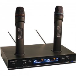 Pyle / Pyle-Pro - PDW-M3000 - Pyle PDWM3000 Dual VHF Rechargeable Wireless Microphone System - 232.4MHz to 261kHz System Frequency
