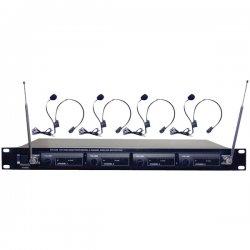Pyle / Pyle-Pro - PDWM4400 - Rack Mount 4mic Vhf Rack Mnt Wl Lavalie/ Headset System