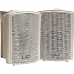 Pyle / Pyle-Pro - PDWR3T - Pyle PylePro PDWR3T 100 W RMS - 200 W PMPO Indoor/Outdoor Speaker - 2-way - 2 Pack - White - 8 Ohm - Wall Mountable