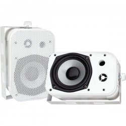 Pyle / Pyle-Pro - PDWR40W - Pyle PylePro PDWR40W Indoor/Outdoor Speaker - 2-way - 2 Pack - White - 4 Ohm