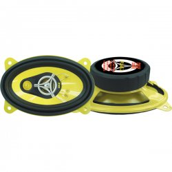 "Pyle / Pyle-Pro - PLG46.3 - Pyle Gear X PLG46.3 Speaker - 90 W RMS - 180 W PMPO - 3-way - 2 Pack - 4 Ohm - 4"" x 6"" - Automobile"