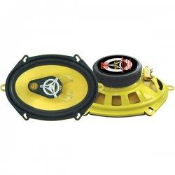 """Pyle / Pyle-Pro - PLG57.3 - Pyle PLG57.3 Speaker - 120 W RMS - 240 W PMPO - 3-way - 2 Pack - 75 Hz to 22 kHz - 4 Ohm - 5"""" x 7"""" - Automobile"""