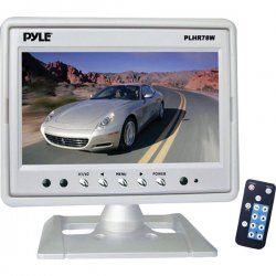 "Pyle / Pyle-Pro - PLHR78W - Pyle PLHR78W 7"" Active Matrix TFT LCD Car Display - White - 16:9 - 1440 x 234 - Headrest-mountable"