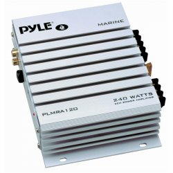 Pyle / Pyle-Pro - PLMRA120 - Pyle Hydra PLMRA120 Marine Amplifier - 140 W RMS - 240 W PMPO - 2 Channel - Class A - 8 Ohm - 80 dB SNR - 0.1% THD - 20 Hz to 30 kHz