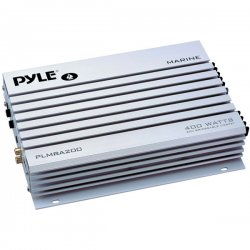Pyle / Pyle-Pro - PLMRA200 - Pyle Hydra PLMRA200 Marine Amplifier - 200 W RMS - 400 W PMPO - 2 Channel - Class AB - Bridgeable - 8 Ohm - 10 Hz to 30 kHz - MOSFET Power Supply