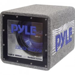 Pyle / Pyle-Pro - PLQB12 - Pyle Blue Wave PLQB12 - 600 W PMPO Woofer - 1 Pack - Blue - 25 Hz to 600 kHz - 4 Ohm