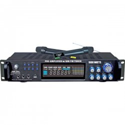 Pyle / Pyle-Pro - PWMA1003T - PylePro PWMA1003T Amplifier - 1000 W PMPO - 1% THD - 40 Hz to 15 kHz - AM, FM - USB - iPod Supported
