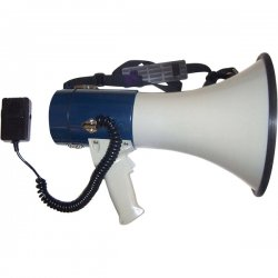 AmpliVox - S602M - MityMeg Piezo Dynamic Megaphone w/Detachable Microphone, 25W, 1 Mile Range