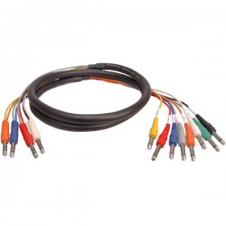 Hosa - STP-802 - Hosa STP-800 Series 8-Channel Insert Snake Cable - Mini-phone Male - Phono Male - 6.56ft