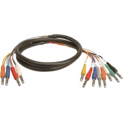 Hosa - STP-803 - Hosa STP-800 Series 8-Channel Insert Snake Cable - Mini-phone Male - Phono Male - 9.84ft