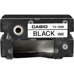 Casio - TR-18BK - Casio Ribbon Cartridge - Thermal Transfer - 50 Pages - Black - 1 Each